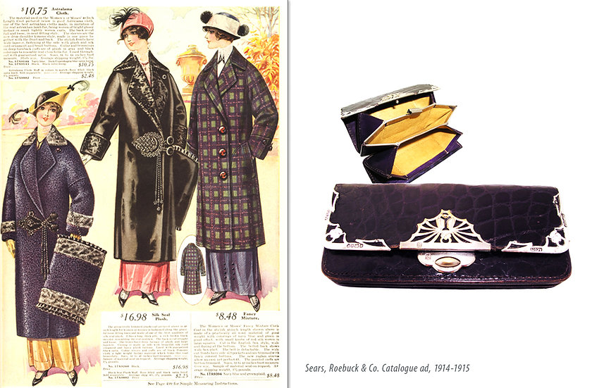 Edwardian 1914 Crocodile Pocketbook Print P-034