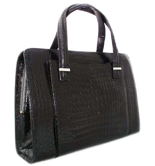 Vintage Crocodile Satchel Handbag Custom FRANCE