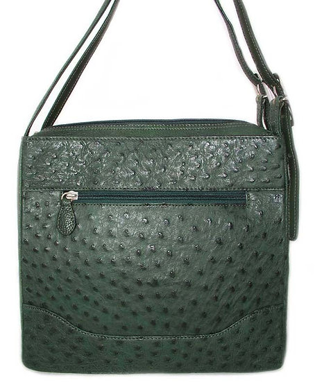 GREEN Vintage Genuine Ostrich Handbag      VEB-002