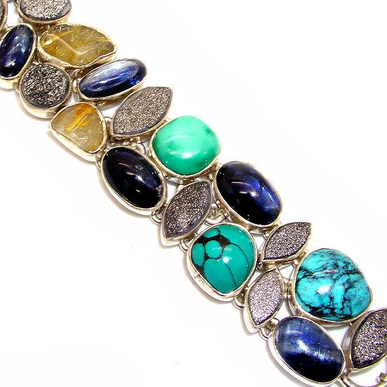 Turquoise Kyanite Bracelet GB-008