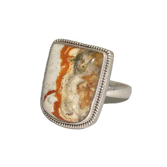Jasper Gemstone Silver Ring CR-005