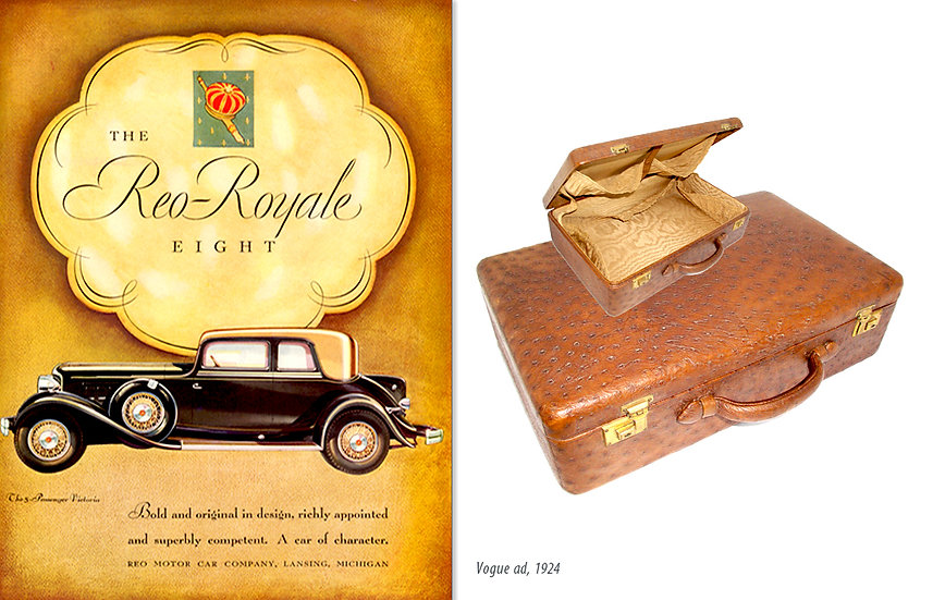 Vogue 1924 Reo-Royale Ad Ostrich Case Print P-031