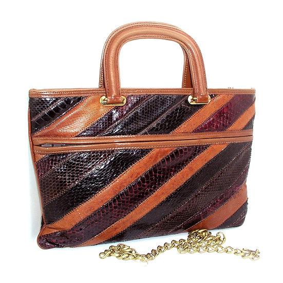 Palizzio Snakeskin Brief Bag       VEB-036