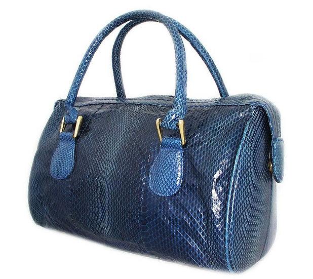 VARON Vintage Snakeskin Bowling Bag        VEB-013
