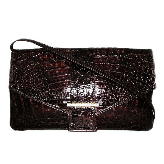 NORDSTROM Vintage Crocodile Clutch Bag     VEB-030