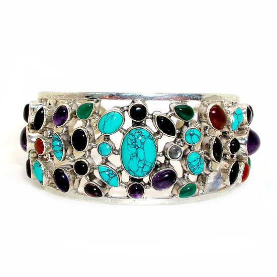 Turquoise Silver Bracelet GB-013