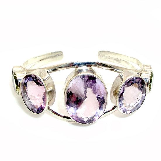 Pink Amethyst Cuff Bracelet GB-010