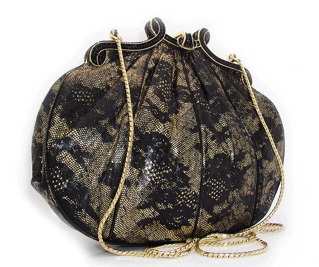 JUDITH LEIBER Vintage Snakeskin Purse Lace CB-006