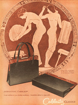 Coblentz Handbags Vogue Ad 1945 Print AP-050