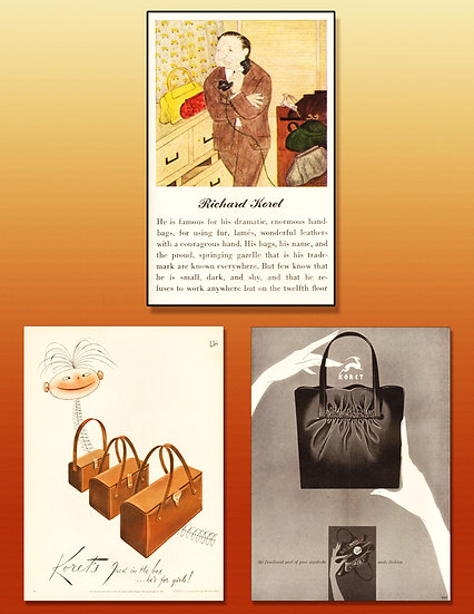 Koret Handbags 1940 Vogue Ad Art Print FA-015