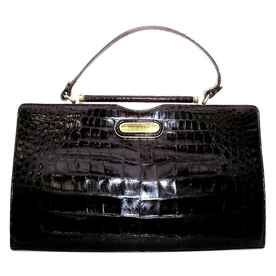 MANON Vintage Alligator Purse Satchel VDB-055