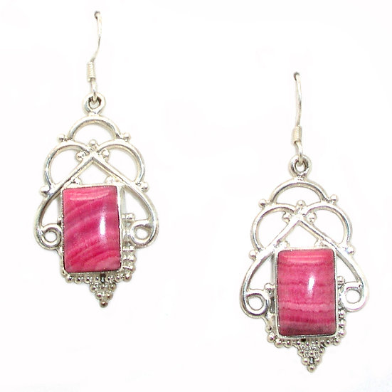 Rhodochrosite Earrings GE-010
