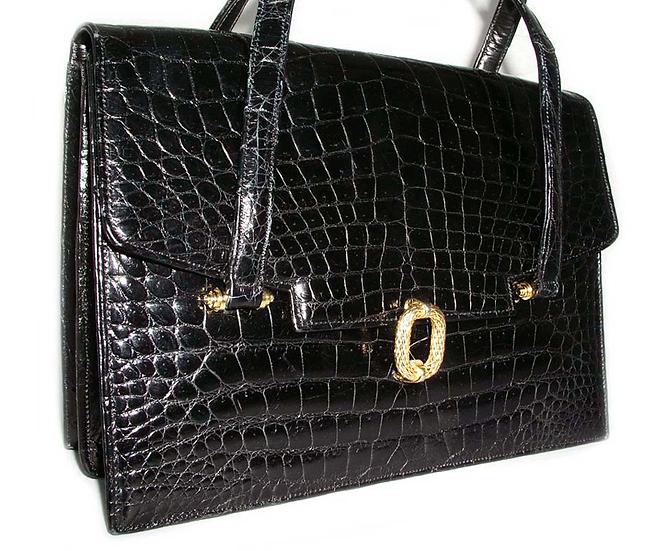 LUCILLE DE PARIS Vintage Crocodile Handbag VDB-025
