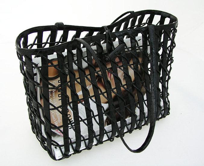 NANCY GONZALEZ Vintage Crocodile Bag Strap Suede