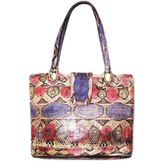 VARON Snakeskin Hobo Bag Python Shopper VDB-054