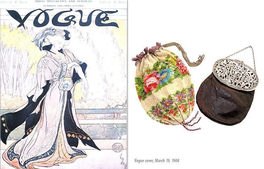 Vogue 1908 Ad Victorian Reticules Bag Print P-048