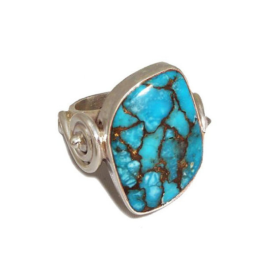 Turquoise Unisex Silver Ring CR-012