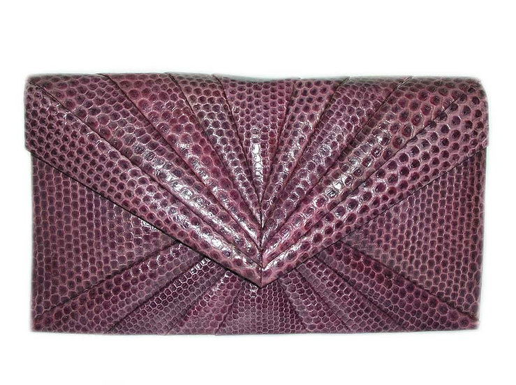 PLUM Vintage Lizard Skin Clutch Bag        VEB-014