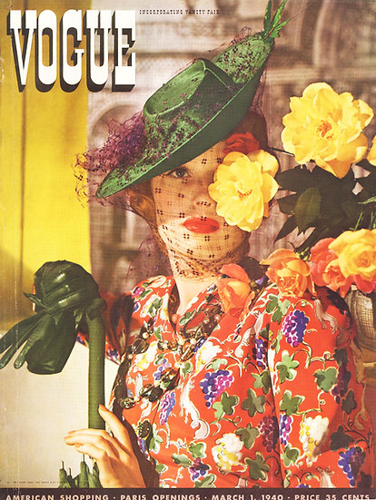 Vogue Cover March 1940 Fashion Print AP-028