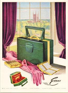 Evans Handbag Ad Vogue 1947 Print AP-031