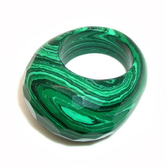 Malachite Artisan Unisex Ring s 11 GR-002