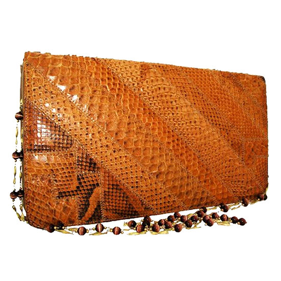 SUPREME Vintage Snakeskin Clutch Jeweled   VEB-048