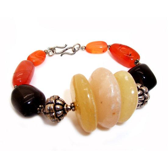 Tribal Jade Onyx Bracelet VJ-003