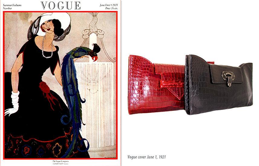 Vogue 1921 Art Deco Crocodile Clutches Print P-030