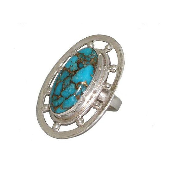 Turquoise Silver Ring CR-001