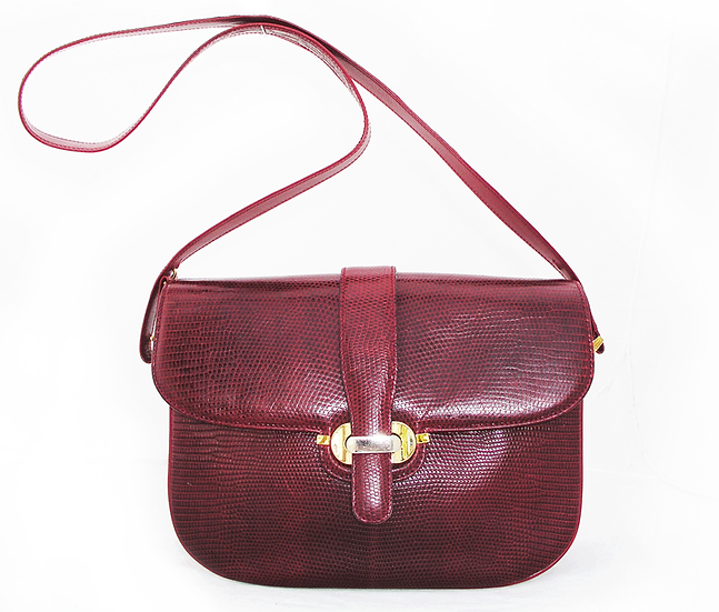 LEDERER de PARIS Vintage Lizard Handbag VDB-039