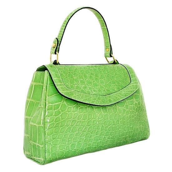 SFA Vintage Alligator Flap Bag Mint Italy CB-026