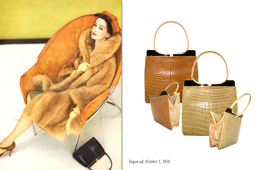 Lucille de Paris Bag Vogue 1958 Print P-014