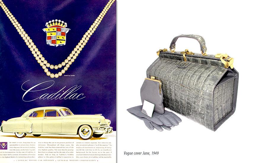 Vogue 1949 Cadillac Ad Travel Bag Print P-017