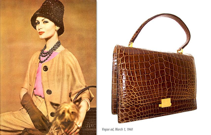 Vogue 1960s Ad, Grimaldi Crocodile Bag Print P-009
