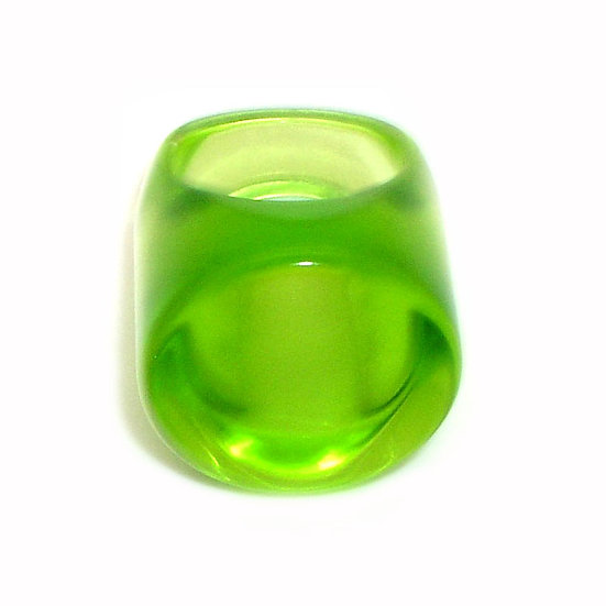 Flat Green Lucite Ring LR-007