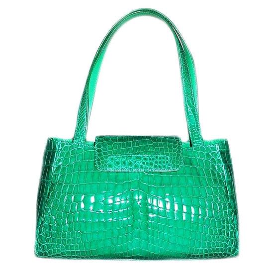 NEON Vintage Crocodile Handbag Italy Rare CB-029