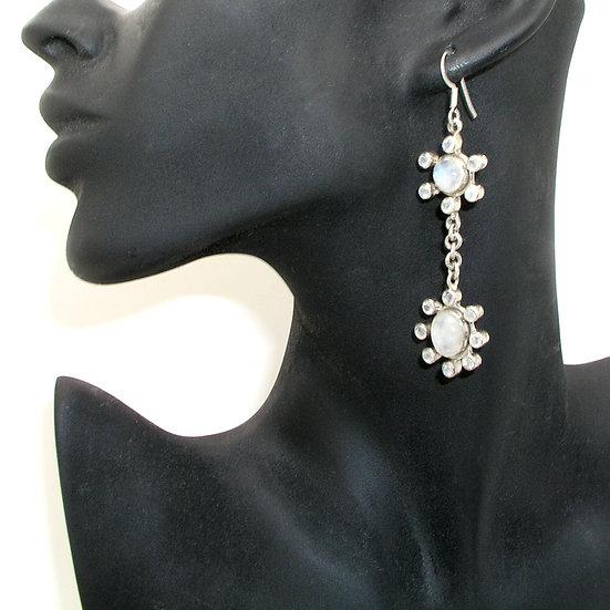 Moonstone Silver Earrings GE-013