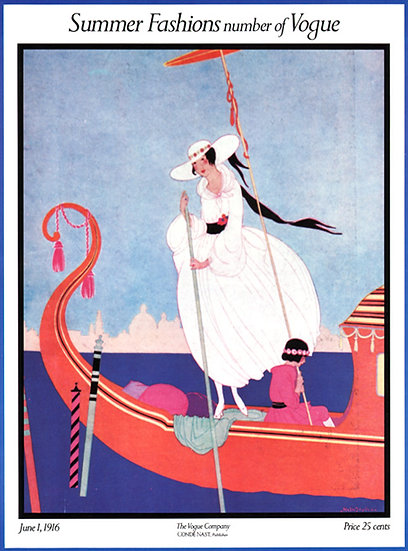 Vogue Cover June 1, 1916 Fashion Print AP-002