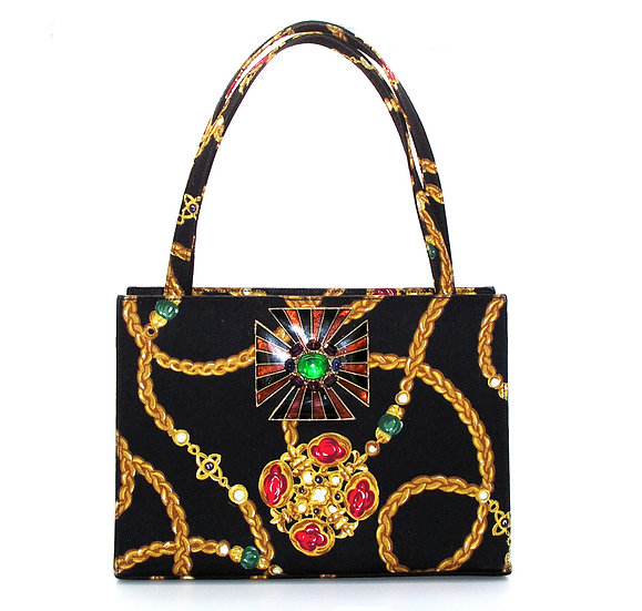 MARTIN VAN SCHAAK Jeweled Silk Bag VDB-003