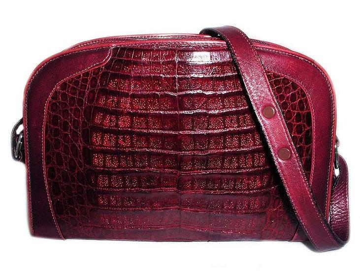 WINE Vintage Crocodile Caiman Bag          VEB-020