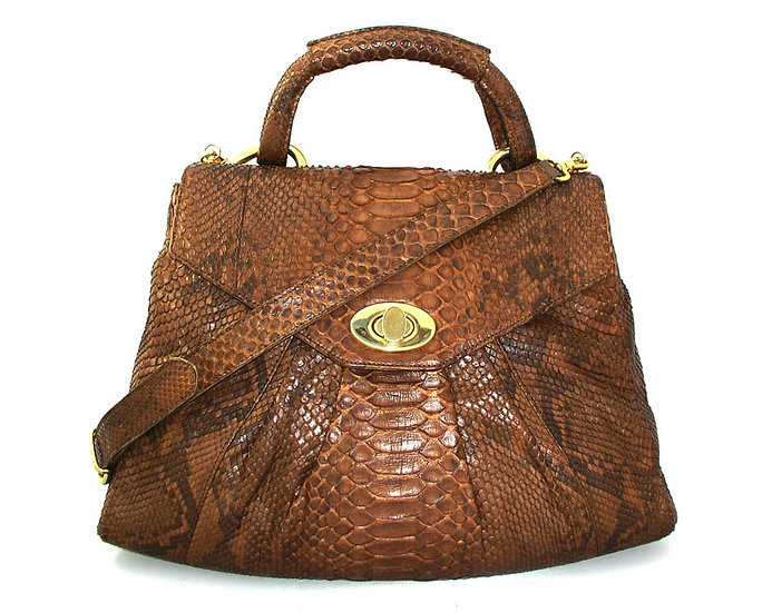 NEIMAN MARCUS Python Shoulder Handbag VDB-026