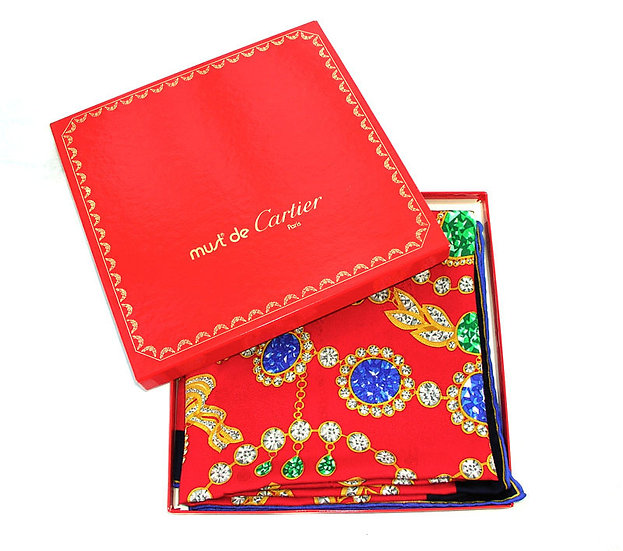 Cartier Silk Scarf France A-005
