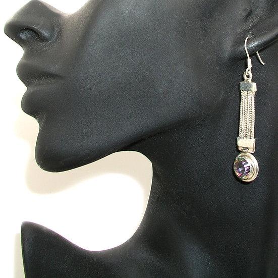 Topaz Silver Earrings GE-002