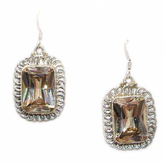 Quartz Silver Earrings GE-008