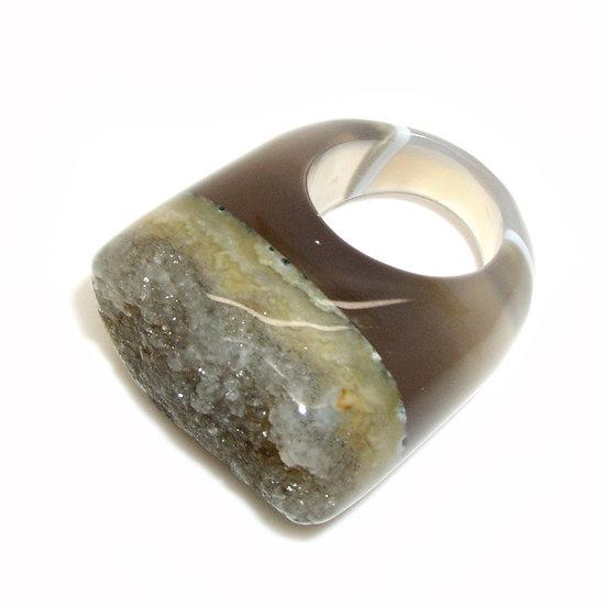 Agate Unisex Ring sz 7.25 GR-004
