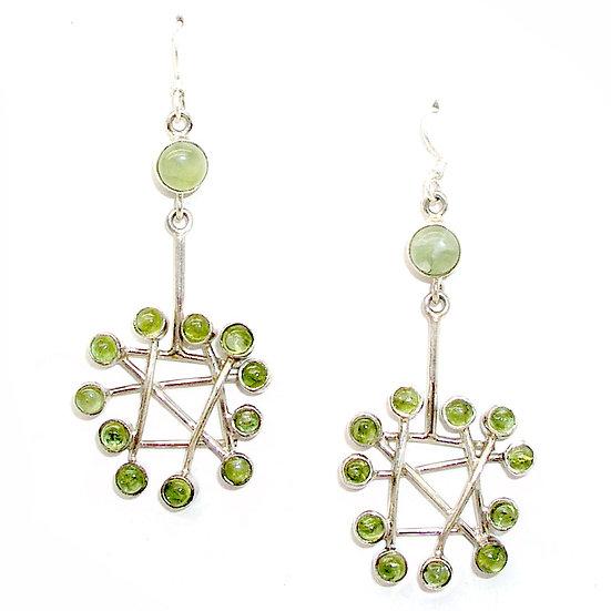 Peridot Silver Earrings GE-015