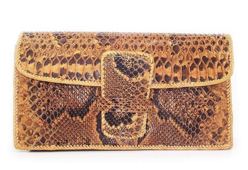 LACED Vintage Snakeskin Clutch Bag         VEB-018