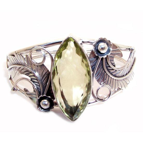 CITRINE Artisan Sterling Gem Cuff Bracelet VJ-014