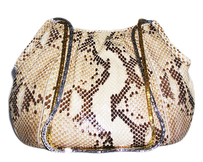 FINESSE la MODEL Vintage Python Purse VDB-038