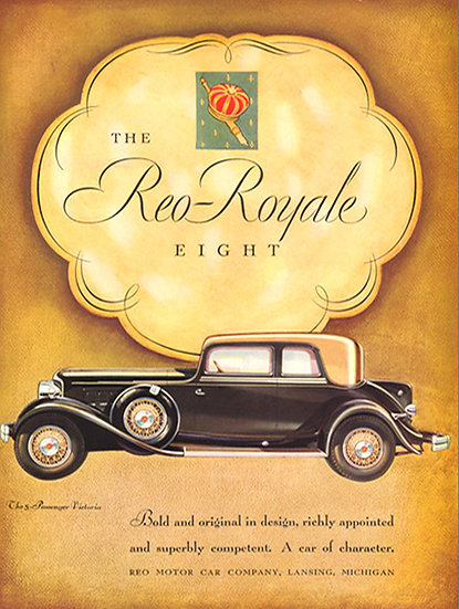 Vogue Ad 1924 Reo Royale Eight Art Print AP-010